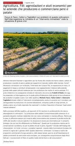 Agricoltura: Michele Facci - Fratelli d'Italia
