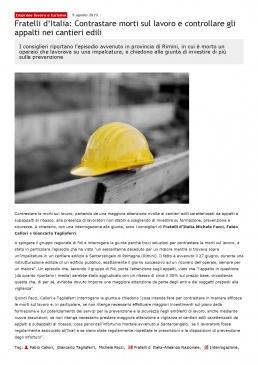 Michele Facci - Fratelli d'Italia - Sicurezza nei cantieri edili
