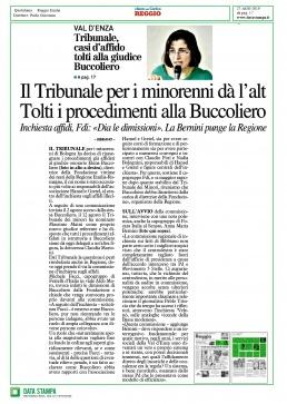 Tribunale dei minorenni - tolti i procedimenti alla Buccoliero