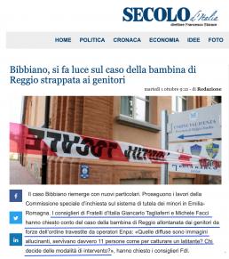 Bibbiano, si fa luce sul caso della bambina di Reggio strappata ai genitori
